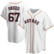 Cy Sneed Men's Houston Astros Home Jersey - White Replica